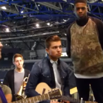 Loveable Rogues from Britain's Got Talent duets with Olly Murs on his single What A Buzz