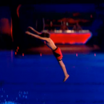 Perri Kiely from Diversity impressed Tom Daley with 10 metre somersault on Splash 2014 and made it to the semifinals