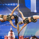 Almost naked showgirls Crazy Rouge and acrobatic pole dancers Terri and Lisette hot ups Britain's Got Talent 2014 Audition show