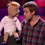 Sam Jones and Baby Leo perform on the third semifinals of Britain's Got Talent 2014