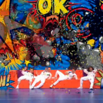 OK Worldwide danced with colourful artwork background on the fourth semi final Britain's Got Talent
