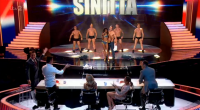 "Sinitta performed with topless male dancers on Britain's Got More Talent 2015. The 1980s pop princes sang one of her biggest hits ""So Macho"" with topless male backing dancers."