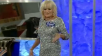 Loose Women Sherrie Hewson wearing a sliver dress became the first celebrity to enter the Celebrity Big Brother 2015 house.