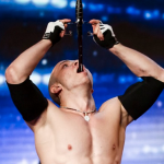 How did Alexandr Magala do his sword swallowing routine on Britain's Got Talent?