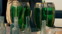 Two green vases valued at £300 each were sold for £15 by team Nebula on The Apprentice 2016 Collectables task.