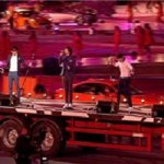 One Direction performed at the London Olympics closing ceremony 2012