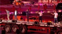 One Direction performed their hit single 'What Makes you Beautiful' at the London Olympics closing ceremony tonight. The X factor stars who are now the biggest boyband in the world...