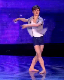 Rhys Yeomans got to dance