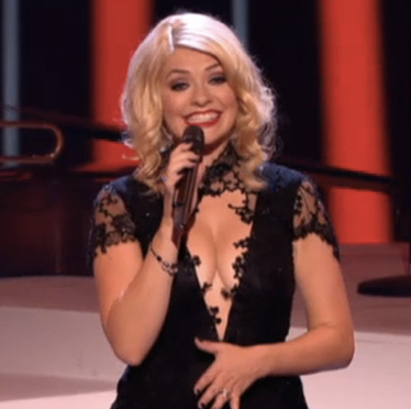 holly willoughby's boobs the voice