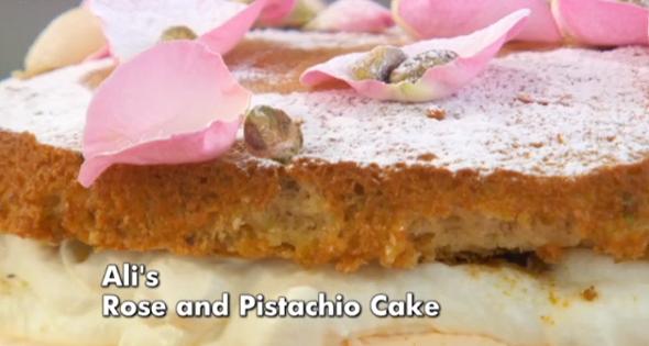 ali rose and pistachio cake