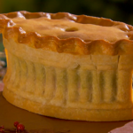 Hand-raised Boxing Day pie by Paul Hollywood The Great British Bake Off Christmas Special