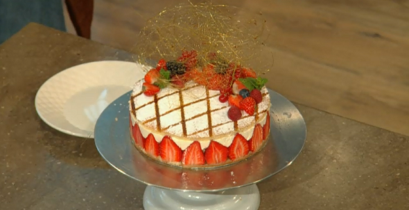 James Martin Strawberry Cream Cake