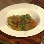 Turkey osso bucco with salsa verde by Brian Turner on Christmas Kitchen with James Martin