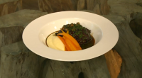 Chef Adam Bennett makes his Saturday Kitchen debut today serving up a braised ox cheek, pickled walnuts, smoked anchovy, glazed carrots and mash dish. In 2012, Bennett was Britain's entrant...