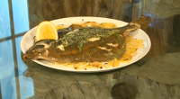 Chef Nathan Outlaw serves up a fish super for Emma Lewis from The Voice to try on today's Saturday Kitchen Live. The Michelin started chef's whole baked plaice recipe is...