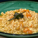 Roasted Pumpkin Risotto with Sage Butter by Gino D'acampo on This Morning Gino Kitchen Kidnap