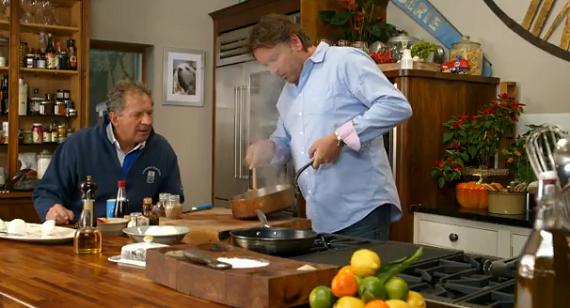James Martin Makes Parma Ham Wrapped Mozzarella With Plum