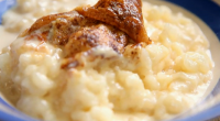 Chef Simon Hopkinson shows us how to make a traditional rice pudding on today's episode of The Good Cook. To make Simon's pudding you will need: 40g unsalted butter, 75g...