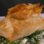 Salmon with beans and creamy leek parcels by Gino on This Morning for Valentine's Day