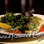 Brill roasted with sweet pepper sauce on Gino Kitchen Kidnap on This Morning