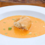 Langoustines Soup and Scampi in a vodka and tonic batter on James Martin's Food Map of Britain