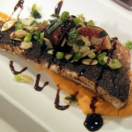 MasterChef 2014 UK Day 1 Results: Holly's Pan Fried Sea Bass and Robert's Rabbit Liver recipe wins them a place in the quarter finals