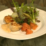 Fish in white sauce by Cyrus Todiwala and Salmon with with hay smoked scallops by Niklas Ekstedt on Saturday Kitchen
