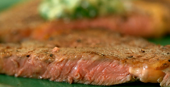 Rib Eye Steak With Stilton Butter Recipe For A Dinner