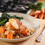 Si and Dave One Pot Chicken Casserole with potato cobbler recipe on the Bikers Best Of British Foods