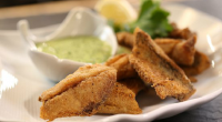 "Si and Dave make devilled herrings with green sauce on the Bikers Best of British foods. The Bikers says: ""Use any fresh garden herbs for this vibrant sauce. Less popular..."