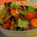 Jon Rotheram chilli beef salad with ginger and soy sauce recipe on Lorraine