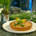 Tom Kerridge courgettes and cheddar cheese tart recipe on Spring Kitchen