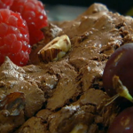 Nigel Slater chocolate cookies with hazelnuts and scarlet fruit on Spring Kitchen with Tom Kerridge