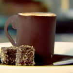 Raymond Blanc café crème  (a cup sculpted from chocolate) recipe on Kitchen Secrets