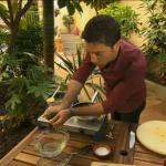 Gino vegetarian pasta dish with broccoli, cherry tomatoes and chilli on Gino's Italian Escape