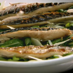 Raymond Blanc Grilled mackerel with soy lime dressing on Kitchen Secrets