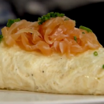 Raymond Blanc Smoked salmon omelette on Raymond Blanc's Kitchen Secret