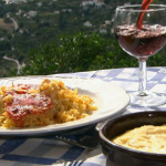 Rick stein paella with monkfish and red peppers on Spring Kitchen with Tom kerridge
