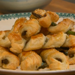 Rachel Khoo Asparagus and anchovy twists on Spring Kitchen with Tom Kerridge