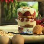 Gino Cherry tiramisu with creamy vanilla mascarpone and cherry liqueur recipe on Gino's Italian Escape