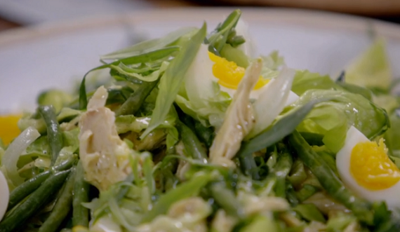 Jamie Oliver Frenchie Salad With Leftover Chicken On Jamie S Money Saving Meals The Talent Zone