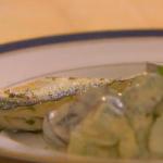 Hairy Bikers Waldorf salad with grilled mackerel recipe on Hairy Bikers Best of British
