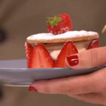 John Whaites strawberry shortbread stacks recipe on Lorraine