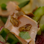 Jamie Oliver salmon tacos with avocado and homemade pickle recipe on Jamie's Money Saving Meals