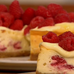 Baked Lemon and Raspberry Cheesecake recipe on Let's Do Lunch with Gino and Mel