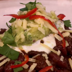 Gino chilli con carne with guacamole recipe on Let's Do Lunch with Mel and Alan Carr
