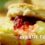 Lisa Faulkner cream tea with Cornish Summer scones on This Morning