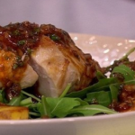 James Tanner Garlic chicken with tomato dressing recipe on Lorraine