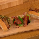 Gino D'Acampo pimped up hot dogs with Wasabi mayo and crispy seaweed recipe on Let's Do Lunch