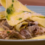 Gino chicken and mushroom open lasagna recipe on Let's Do Lunch